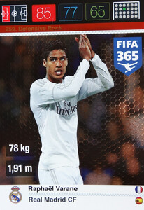 2016 FIFA 365 DEFENSIVE ROCK Raphaël Varane #259