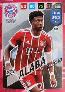 2018 FIFA 365 TEAM MATE David Alaba #162