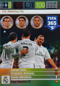 2016 FIFA 365 ATTACKING TRIO  Bale,  Ronaldo,  Benzema #312