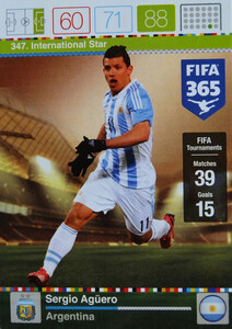 2016 FIFA 365 INTERNATIONAL STAR Sergio Agüero #347