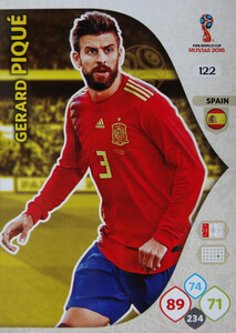 WORLD CUP RUSSIA 2018 TEAM MATE HISZPANIA PIQUE 122