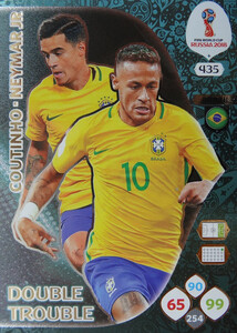 WORLD CUP RUSSIA 2018 DOUBLE TROUBLE NEYMAR 435