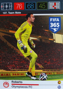 2016 FIFA 365 TEAM MATE OLYMPIACOS FC Roberto #107
