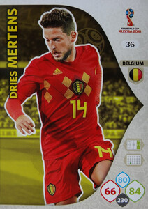 WORLD CUP RUSSIA 2018 BELGIA TEAM MERTENS 36