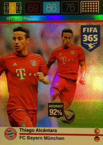 2016 FIFA 365 KEY PLAYER Thiago Alcântara #167