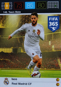 2016 FIFA 365 TEAM MATE REAL MADRID CF  Isco #146