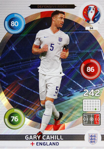 EURO 2016 DEFENSIVE ROCK Gary Cahill #94