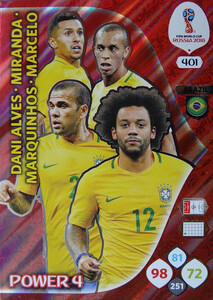 WORLD CUP RUSSIA 2018 POWER 4 BRAZYLIA 401