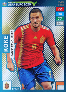 ROAD TO EURO 2020 FANS FAVOURITE Koke #245