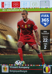 2016 FIFA 365 INTERNATIONAL STAR  Vincent Kompany #321