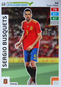 ROAD TO EURO 2020 TEAM MATE Sergio Busquets 58