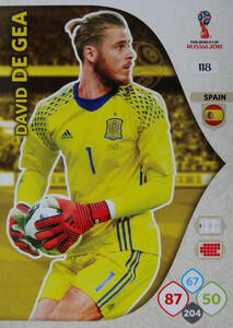 WORLD CUP RUSSIA 2018 TEAM MATE HISZPANIA DE GEA 118