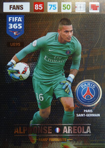 UPDATE 2017 FIFA 365 FANS' FAVOURITE ALPHONSE AREOLA #95