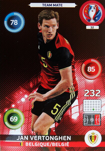 EURO 2016 TEAM MATE Jan Vertonghen #32