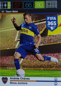2016 FIFA 365 TEAM MATE BOCA JUNIORS Andrés Chávez #57