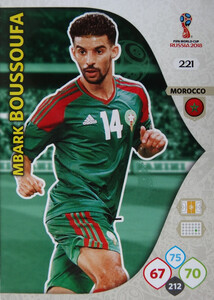 WORLD CUP RUSSIA 2018 TEAM MATE  MAROKO BOUSSOUFA 221