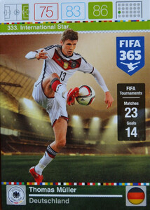 2016 FIFA 365 INTERNATIONAL STAR Thomas Müller #333