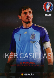 EURO 2016 LEGEND Iker Casillas #17