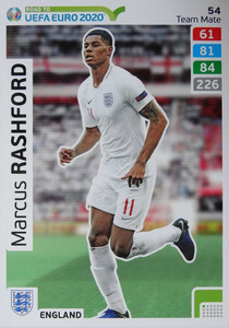 ROAD TO EURO 2020 TEAM MATE Marcus Rashford 54