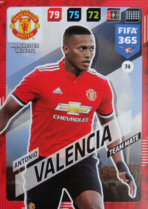 2018 FIFA 365 TEAM MATE Antonio Valencia #74