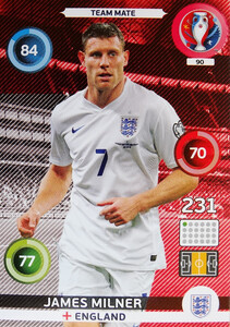 EURO 2016 TEAM MATE James Milner #90