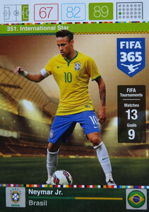 2016 FIFA 365 INTERNATIONAL STAR Neymar Jr. #351