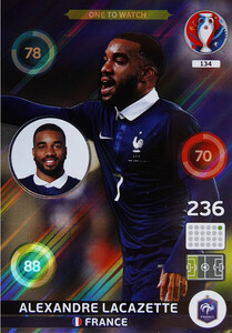 EURO 2016 ONE TO WATCH Alexandre Lacazette  #134