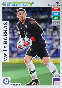 ROAD TO EURO 2020 TEAM MATE Vasilis Barkas 91