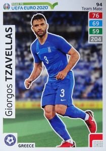 ROAD TO EURO 2020 TEAM MATE Giorgios Tzavellas 94