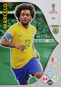 WORLD CUP RUSSIA 2018 BRAZYLIA TEAM MARCELO 40