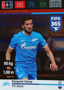 2016 FIFA 365 DEFENSIVE ROCK Ezequiel Garay #261