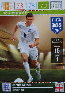 2016 FIFA 365 INTERNATIONAL STAR James Milner #332