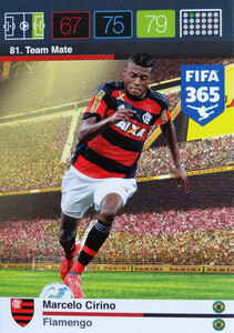 2016 FIFA 365 TEAM MATE FLAMENGO Marcelo Cirino #81