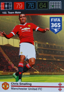 2016 FIFA 365 TEAM MATE MANCHESTER UNITED FC Chris Smalling #102