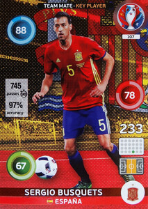 EURO 2016 TEAM MATE / KEY PLAYER Sergio Busquets #107