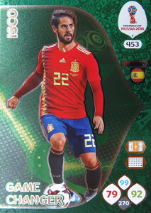 WORLD CUP RUSSIA 2018 GAME CHANGER ISCO 453