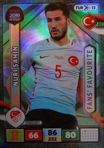 ROAD TO RUSSIA 2018 FANS FAVOURITE TURCJA SAHIN 13