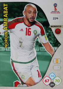 WORLD CUP RUSSIA 2018 TEAM MATE MAROKO AMRABAT 224