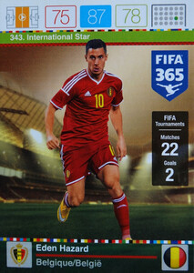 2016 FIFA 365 INTERNATIONAL STAR Eden Hazard #343