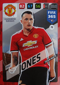 2018 FIFA 365 TEAM MATE Phil Jones #72