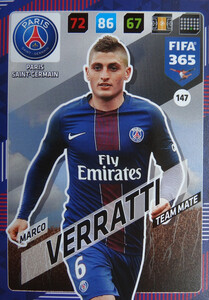 2018 FIFA 365 TEAM MATE Marco Verratti #147