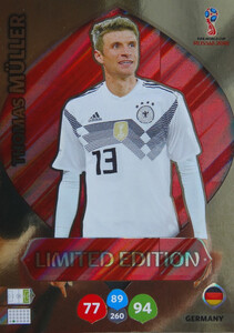 WORLD CUP RUSSIA 2018 LIMITED  NIEMCY Thomas Muller