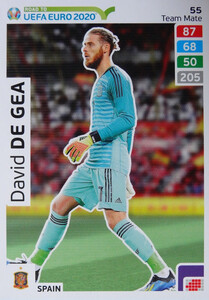 ROAD TO EURO 2020 TEAM MATE David de Gea 55