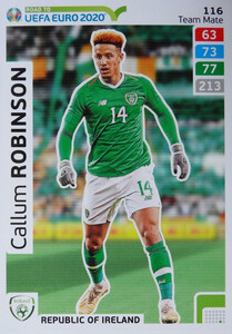 ROAD TO EURO 2020 TEAM MATE Callum Robinson 116
