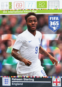 2016 FIFA 365 INTERNATIONAL RISING STAR Raheem Sterling #354