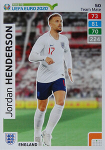 ROAD TO EURO 2020 TEAM MATE Jordan Henderson 50