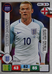 ROAD TO RUSSIA 2018 TEAM MATE ENGLAND ANGLIA ROONEY 16