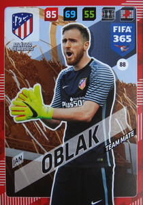 2018 FIFA 365 TEAM MATE Jan Oblak #88