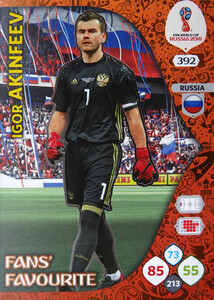 WORLD CUP RUSSIA 2018 FANS FAVOURITE AKINFEEV 392
