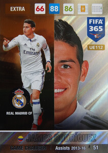 UPDATE 2017 FIFA 365 GAME CHANGER JAMES RODRIGUEZ #112